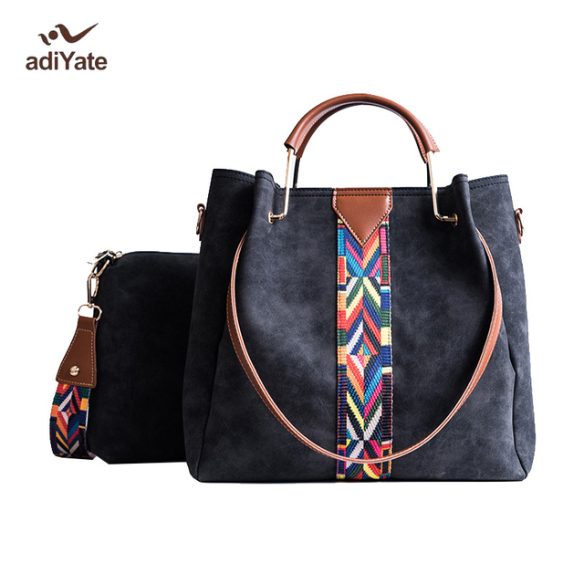 648d78f1878 ADIYATE Womens Bags Patchwork Handbag Socialite Shoulder Technicolor  Fashion bolsas feminina O Bag Large Tote Handbag