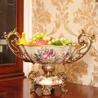 European style home decorations American retro living room coffee table decoration large table fruit plate lo93215