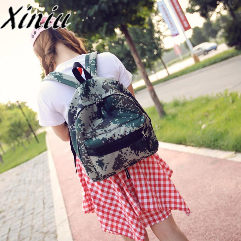 Xiniu camouflage backpacks women school woman backpack print bags for women 2017 canvas large rucksack womens back pack 2017 #SS