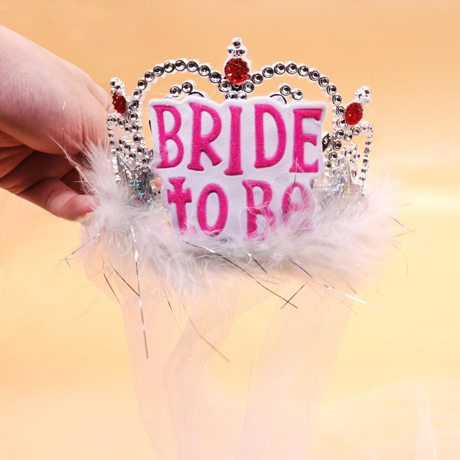 12Pcs Bride to be Veil Crown Wedding Decor Bachelorette Party ...
