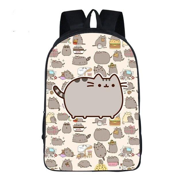 a25f7794b9 Lovely Children Schoolbag Pusheen Cat Rucksacks Backpack for Teenagers  Girls Student School Travel Shoulder Bag Mochila