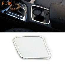 Mirror Stainless font b Interior b font Accessories Armrest Cup Holder Frame Panel Trim Cover for