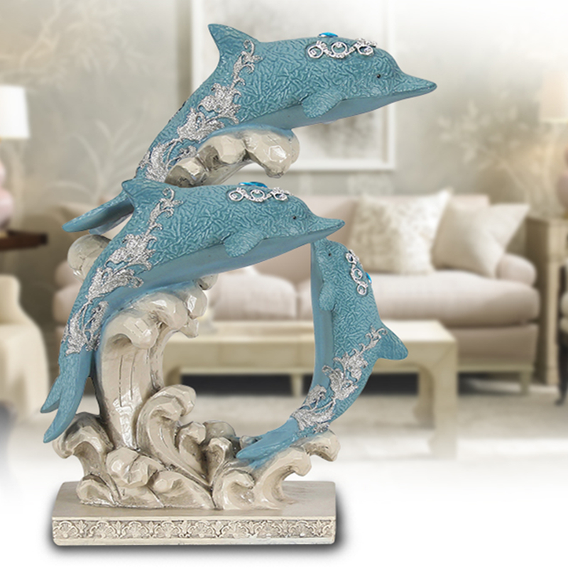 Dolphin Family Elegant Modern Home Decorations Home Ornaments Pop Art Resin Craft New Home GiftDolphin Family Elegant Modern Home Decorations Home Ornaments Pop Art Resin Craft New Home Gift