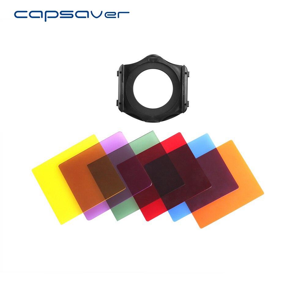 Capsaver Camera Lens Filtre Bleu Rouge Orange Vert Jaune Violet Lumière Colorée Filtres Cokin P Filtre Adaptateur Anneau Titulaire 67mm