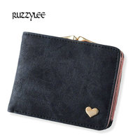 Hasp Short Mini Solid Color Lady Woman Wallet Brand Women Purses Wallets Women Purse Leather Clutch