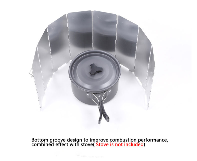 HOT 8 Plates Outdoor Gas Camping Stove Folding Wind Screen Shield Windproof Board Foldable Camp Cooking Cooker Wind deflectors