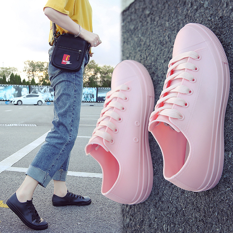 SWYIVY Rain Boots Women Shoes Waterproof 2019 Spring Summer Female Casual Shoes Rubber Rain Boots For Woman 40 PVC water shoes