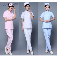 2018 Fashion Women Summer Hospital Medical Scrub Sets Fashionable Design Slim Dental Scrubs Hospital Beauty Salon Nurse Uniforms