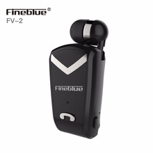 FineBlue F-V2 Business Bluetooth Headset Wireless Earphone Car Wear Clip Bluetooth Phone Handsfree for iPhone Xiaomi Samsung hot original fineblue f910 wireless bluetooth earphone headset in ear vibrating alert wear clip bluetooth earphone for phone