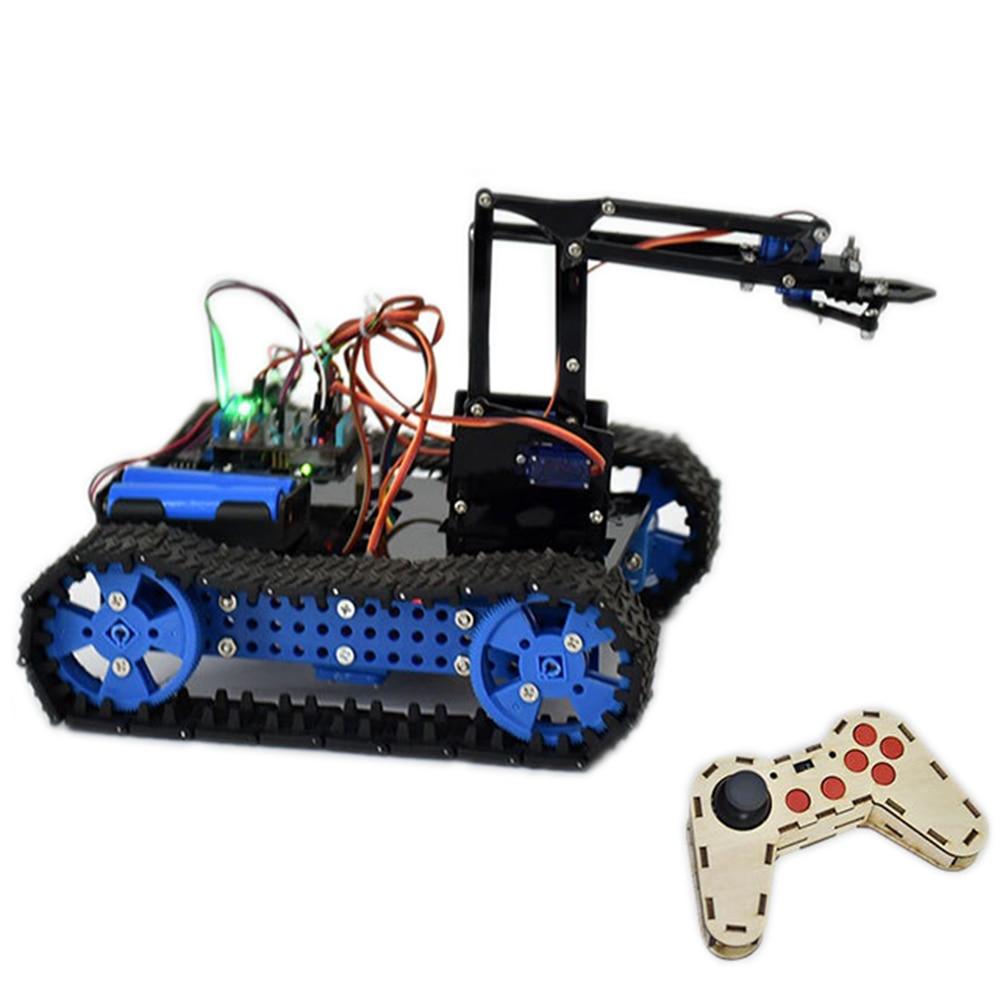 DIY Arduino STEAM Programmable Smart RC Robot Car Arm Tank Educational Kit