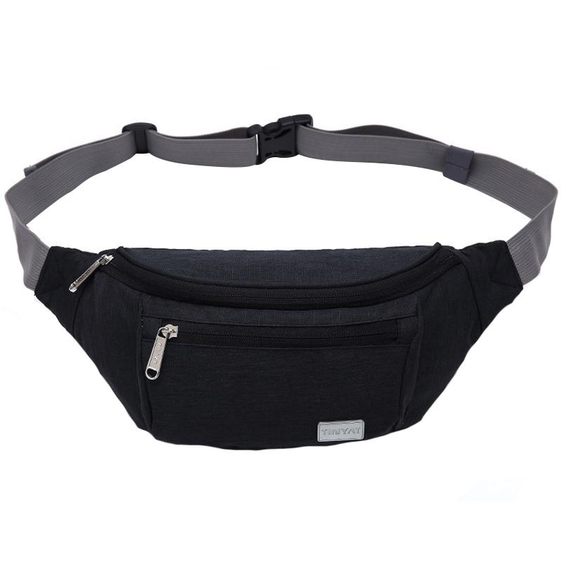 JHD-Tinyat Men Waist Bag Pack Travel Phone Belt Bag Pouch For Men Women Casual Unisex Shoulder Chest Bag Canvas Fanny Pack Hi