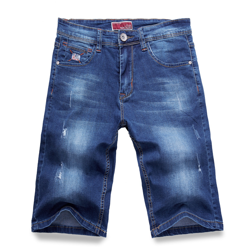 Classic Men Denim Shorts 2019 Summer New Style Thin Section Short   Jeans   Clothing Light Blue Plus USA Size 28 44 46 48
