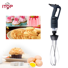 ITOP 350W/500W Electric Egg Beater Immersion Blender with Whisk Commercial Heavy Duty Food Mixer Machine Fruit Vegetable Mixing itop hand held blender portable immersion blender electric food blender mixer kitchen food processor egg beater with whisk