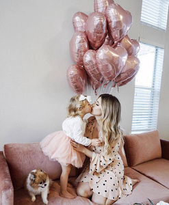 Image 5 - 50pcs 18inch Rose Gold Red Pink Love Foil Heart Helium Balloons Wedding Birthday Party Balloons Valentines Day Globos Supplies