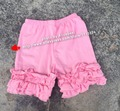 100pcs Afforable Summer Kids Clothes Boutique Girls mix color Cotton Icing Shorts with solid girls Ruffles