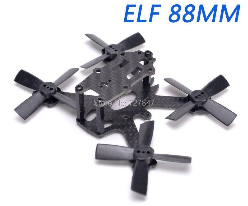 Карбоновая рама ELF X2 88 мм 88 микро-рама, комплект гоночной рамы FPV 1935 Пропеллер для модели RC Multirotor 1103 / 1104 мотор