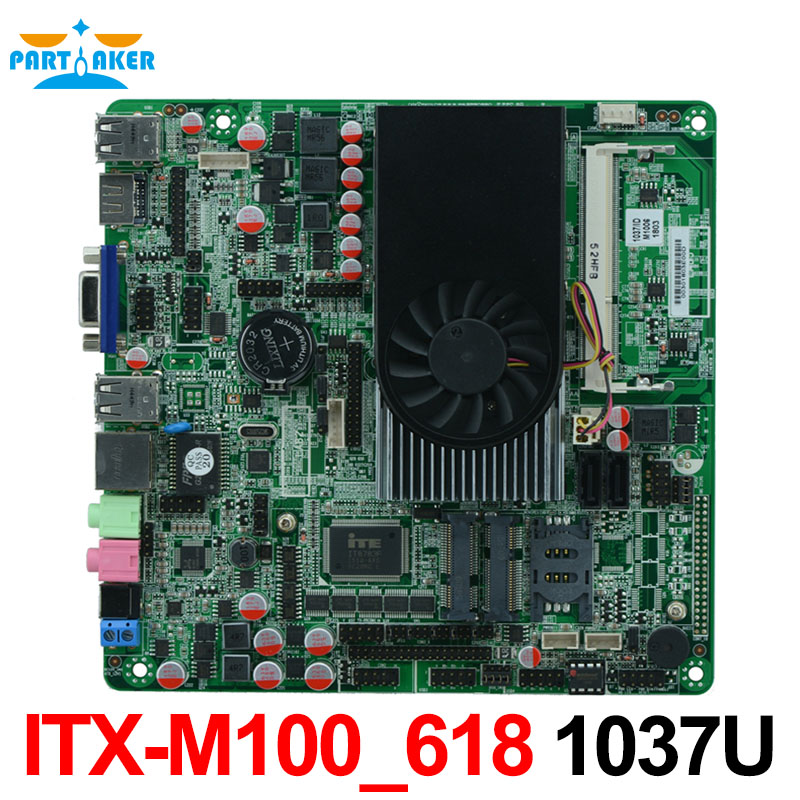 купить China OEM Intel 1037U processor Mini PC Itx Motherboard mini pc pocs all in one motherboard ITX-M100_618 full tested онлайн