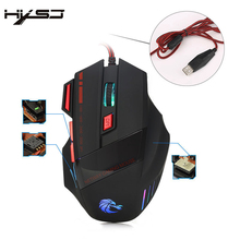 HXSJ Brand Computer mouse 7 buttons LED Optical USB Wired Gaming Mouse Mice For Gamer Laptop 3200DPI H200 game mouse