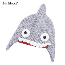1pcs Newborn Baby Girl Boy Hat Cotton Beanie Shark Infant Soft Solid Color Knitted Wool Cap Toddler  Accessory