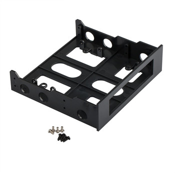 Plastic 3.5 Inch to 5.25 Inch Hard Drive Front CD/DVD Bay Floppy Mounting Kit Bracket With Mounting Screws Easy Installation