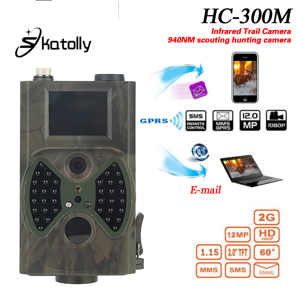 Скатолi HC300M Камера стеження для полювання HC-300M Full HD 12MP 1080P Відео Нічне бачення MMS GPRS Scouting Інфрачервоний мисливець HWC
