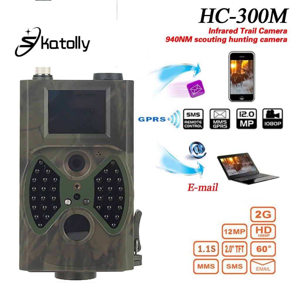 Skatolly HC300M Trail Chasse Caméra HC-300M Full HD 12MP 1080 p Vidéo Nuit Vision MMS GPRS Scoutisme Infrarouge Hunter lumière HWC