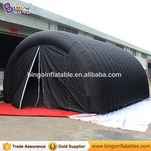 6X4.5X3.5 Meters Black color inflatable tunnel tent hot sale customized blow up tent tunnel for event toys