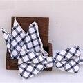 Moda Masculina gravata borboleta Lenço de Algodão das Mulheres Conjunto Jacquard Borboleta Bowtie para Homens Bolso Quadrado Do Casamento Dos Noivos