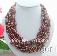 9 Strands  Brown Pearl Necklace