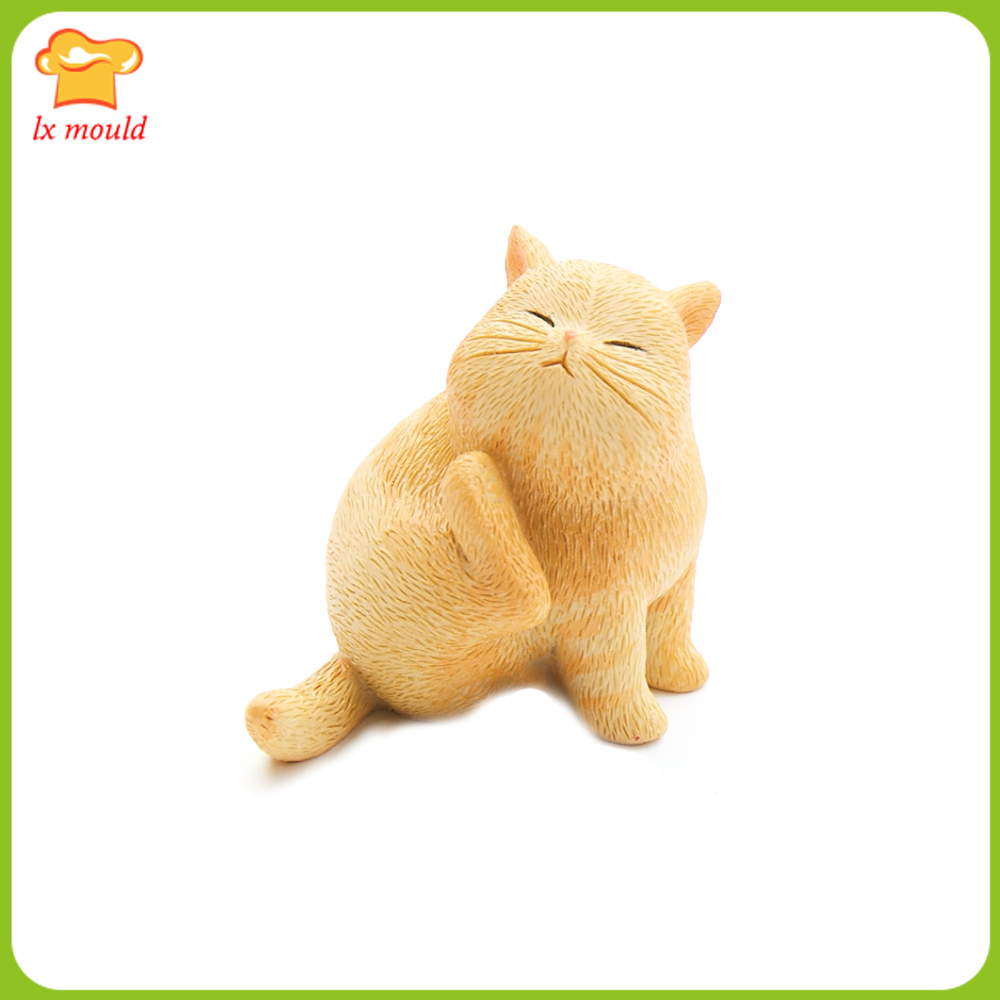 2019 New 3D Cat Silicone Mould Cake Mold Chocolate Pudding Sugar Silicon Mold Hot Sale