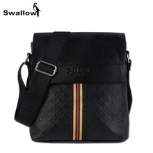 2017 Casual Diamond Lattice Messenger Bag Men Leather Vintage Crossbody Bags For Men Polo Luxury Brand Travel Male Bags Shoulder