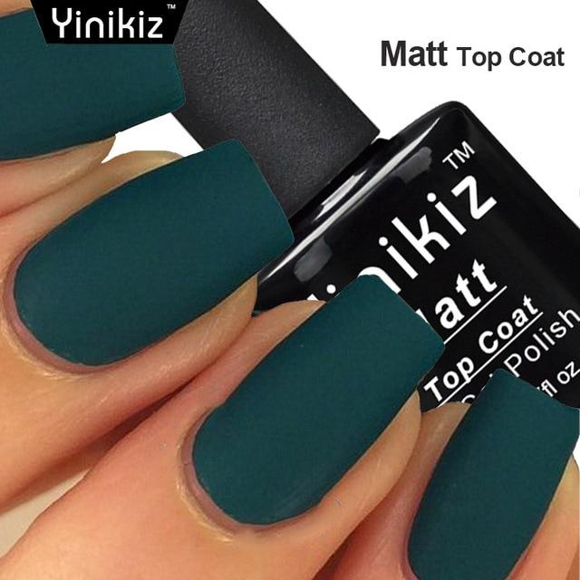 Yinikiz Matt Varnish Matte Top Coat Esmaltes Nail Gel Polish Art Finish Permanen