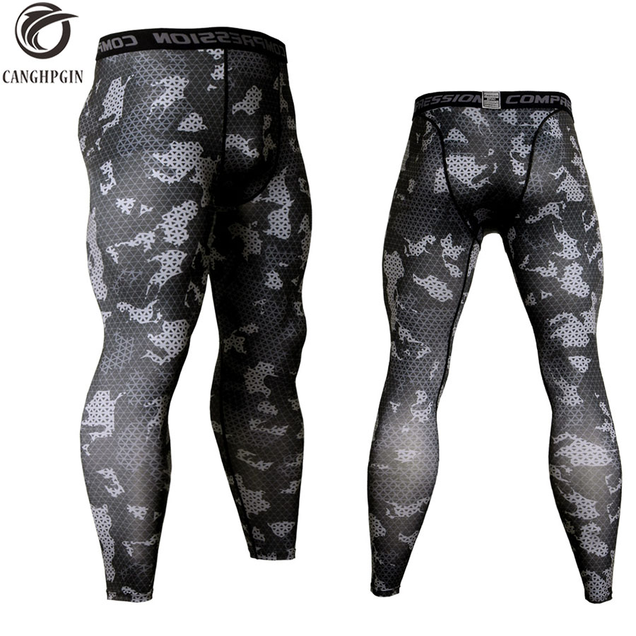 Camouflage Compression Sportswear Running Tights Men Soccer Training Jogging Pants Men Fitness Sport Leggings Gym Trousers Male