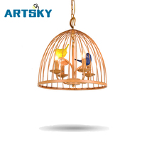 American Retro Contracted Birdcage Pendant Light For Living Room Bedroom Dining Room Pendant Lamp