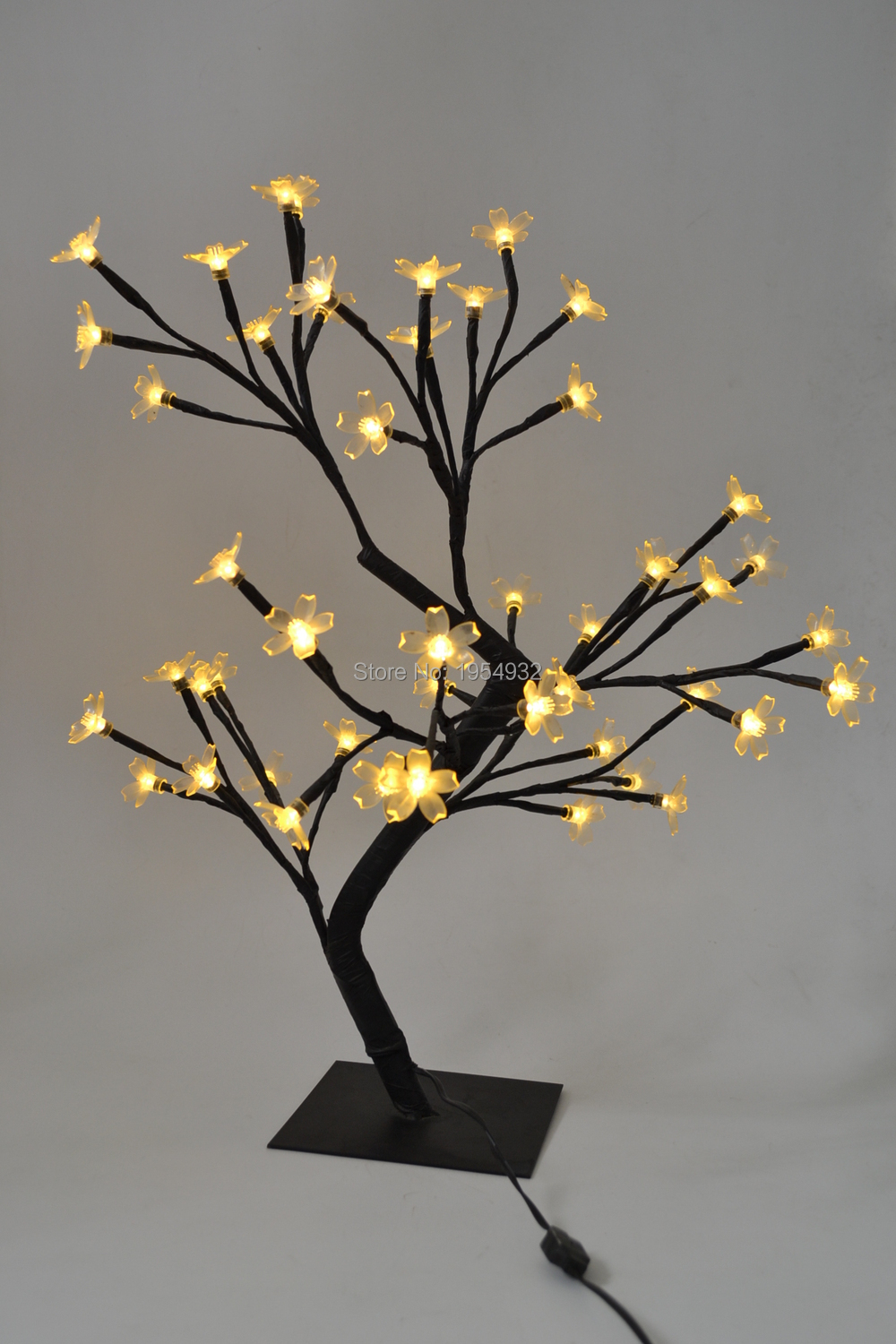"Free Shipping 18"" 48LED Blossom Cherry Tree Light in mini Size, 24V Low Voltage Mini cherry tree light wedding Table Decoration"