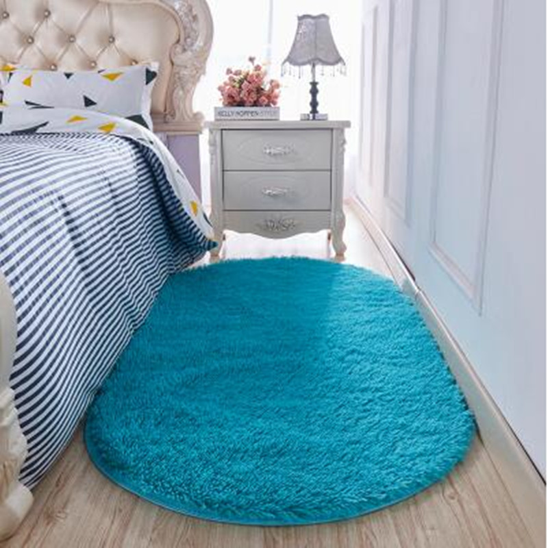 1PC Super Magic Slip-Resistant Pad Soft Room Oval Carpet Floor Tapis Salon Mats 40*60CM/160CM*200CM