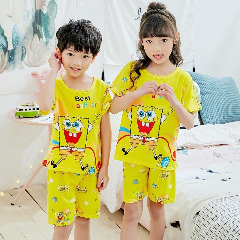 Childrens Day Gift Summer 2018 Children Boys Girls Kids Clothing Sets Cartoon Suit Sleepwear Short Sleeve Cartoon Pajamas SetChildrens Day Gift Summer 2018 Children Boys Girls Kids Clothing Sets Cartoon Suit Sleepwear Short Sleeve Cartoon Pajamas Set