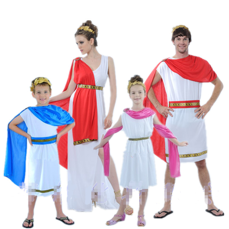 Ladies Greek Goddess Cosplay Roman Princess Costumes Arabic Prince Caesar Fancy Dress Party Halloween Women Men Athena Costume