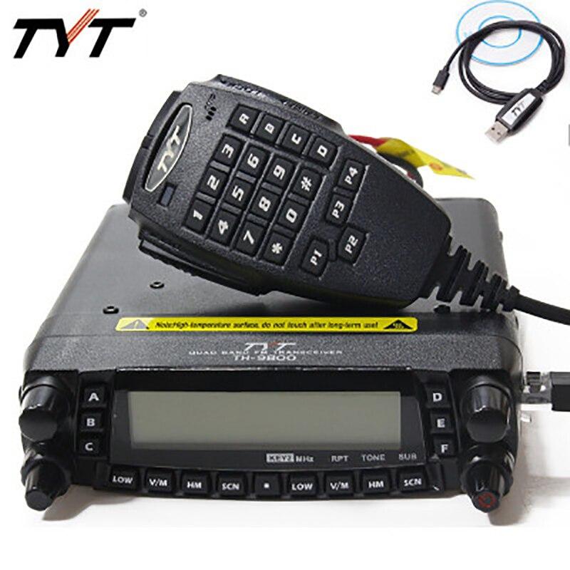 TYT TH-9800 Plus (Mise À Jour) quadri-Bande Support De Véhicule Mobile de Voiture Radio 50 w E 9800 Voiture Émetteur-Récepteur Mobile TH9800 Radio Talkie-walkie