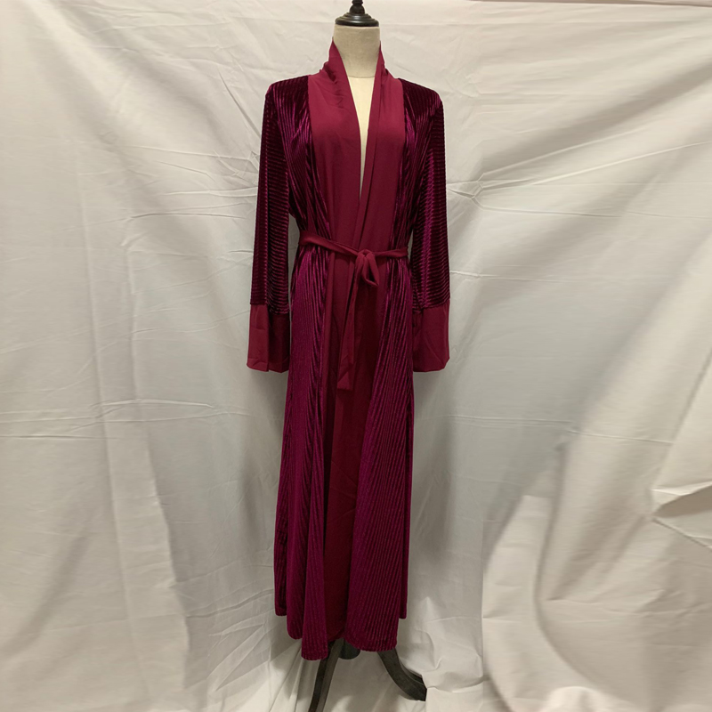 Velvet Abaya Kimono Robe Dubai Islam Cardigan Muslim Hijab Dress Turkey Kaftan Jilbab Abayas For Women Turkish Islamic Clothing