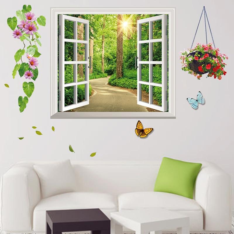 Aliexpress Com Buy New Design Creative Diy Wall Stickers: Aliexpress.com : Buy New Fresh 3D Window Wall Sticker