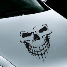59 x 55CM Car Stickers Skull Head Reflective Vinyl Car Styling Car-covers Accessories Funny Decoration Exterior Accessories window deflector for mitsubisi pajero 2 1990 2004 rain deflector dirt protection car styling decoration accessories molding