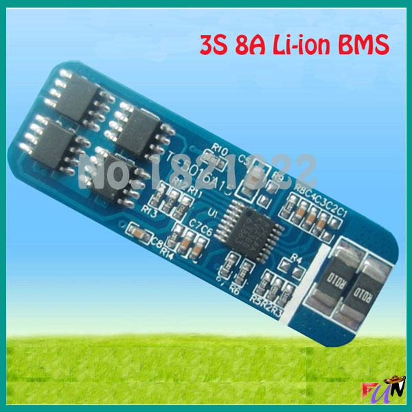 3 cells 8A 18650 Battery Input Ouput Protection PCB Li-ion 12.6V 3S