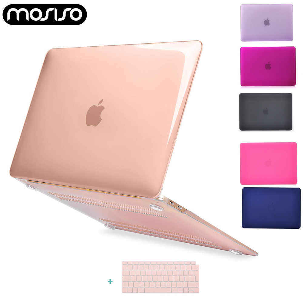Mosiso Baru Laptop Funda Case untuk 2018 MACBOOK AIR 13 Inci Touch ID A1932 Terbaru Notebook Melindungi Shell Cover + keyboard Cover