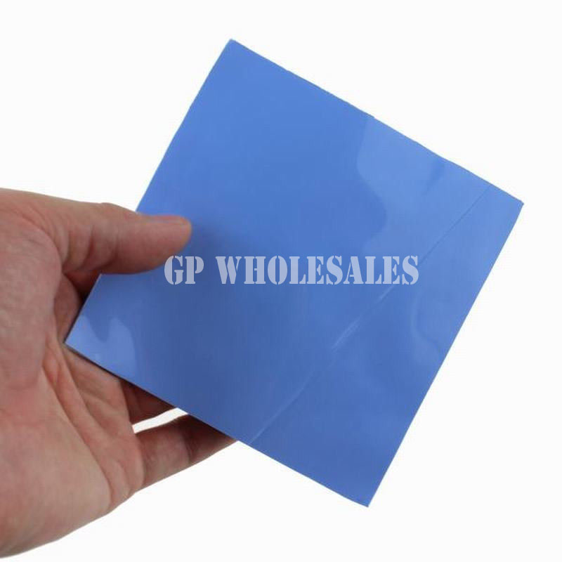 100mm*100mm*5.0mm Soft Silicone Thermal Pad for Heatsink /Chipset LED Gap Insulating /Cooling /Sealing Lower Vibration Blue address adhesive stickers labels 100 100mm 500 sheets thermal papers for labeling and sealing marks wholesale with a good price