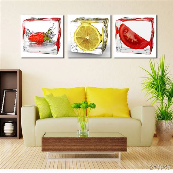 3 Panel Modern Wall Art Canvas Dining Room Wall Decorative Pictures ...