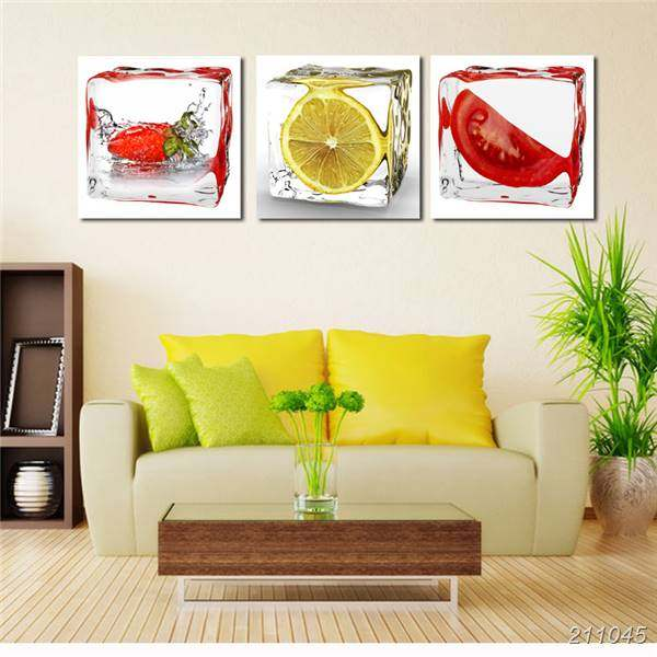 Online Shop 3 Panel Modern Wall Art Canvas Dining Room Wall ...