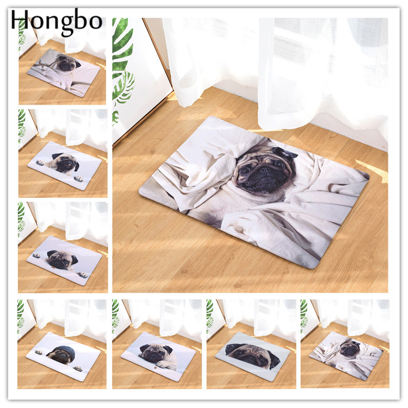 Hongbo Anti-Slip Door Mat Cartoon SharPei Dog Carpets Bedroom Rugs Decorative Stair Mats Home Decor Crafts
