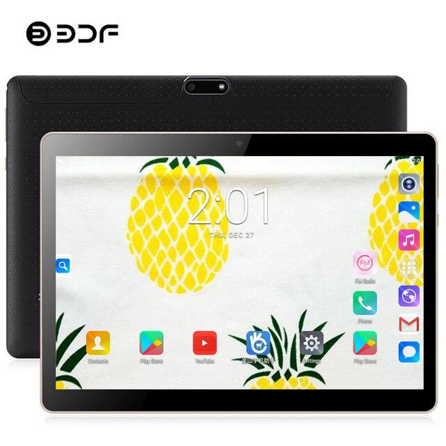 BDF 2019 Máy Tính Bảng 10 Inch Android 7.0 Máy Tính Bảng Pc 3G Điện Thoại Máy Tính Bảng Thẻ SIM 4 GB + 32 GB quad Core 1280*800 IPS WiFi Pc Máy Tính Bảng Android