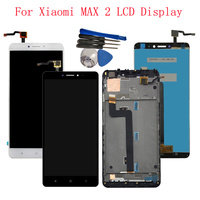 With Frame 6.44'' For Xiaomi Mi Max 2 MDE40 MDT4 LCD Display Touch Screen Digitizer Assembly For xiaomi Mi Max 2 Max2 LCD Screen